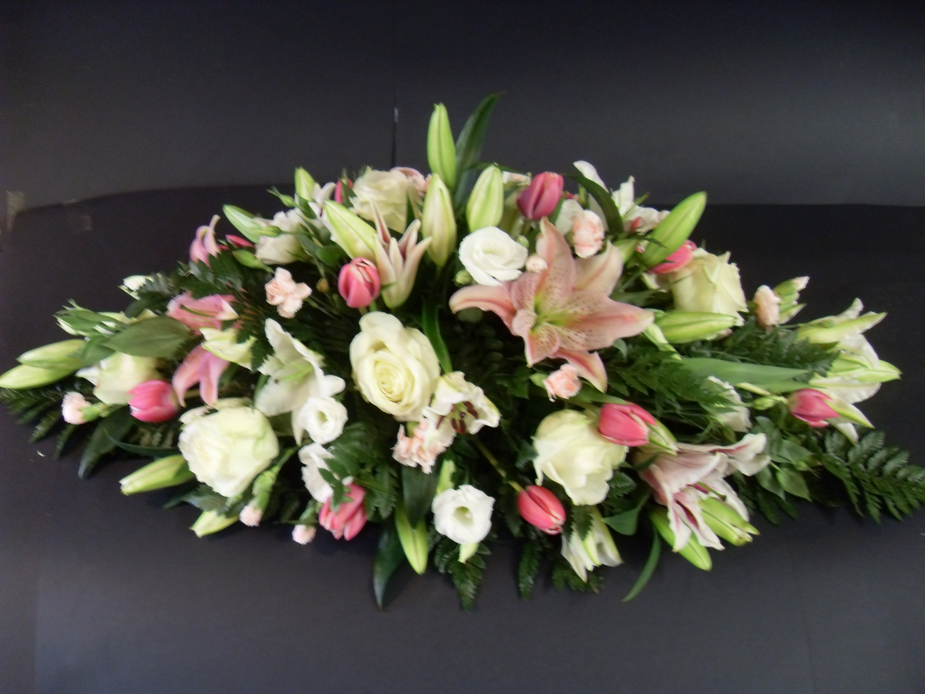 Coffin Top Funeral Tribute Janet Pattison The Florist Hull