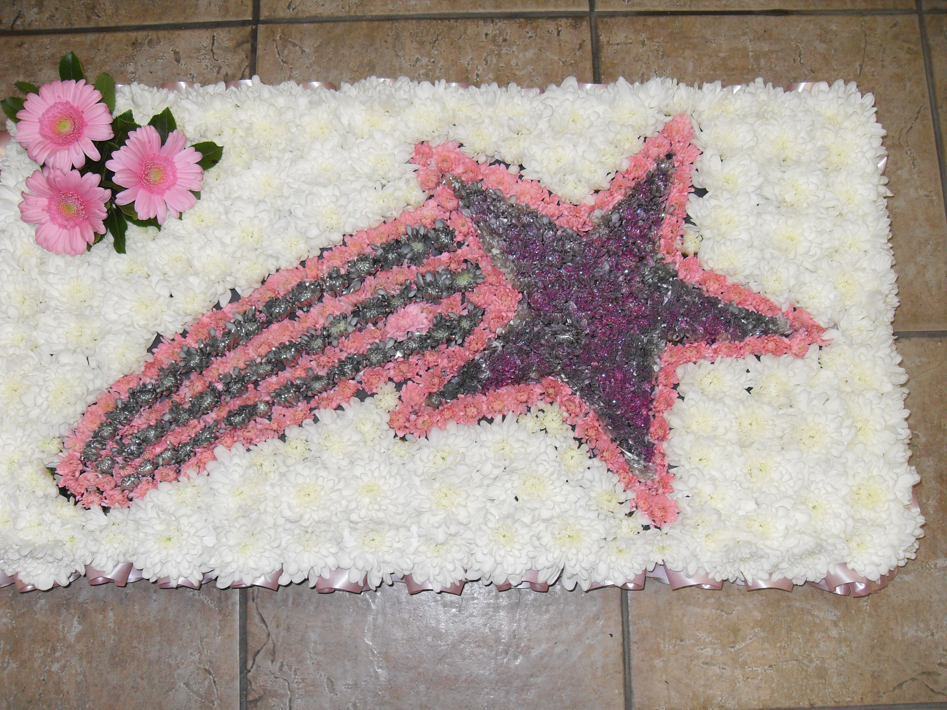 Funeral Tribute Shooting Star Janet Pattison The Florist Hull