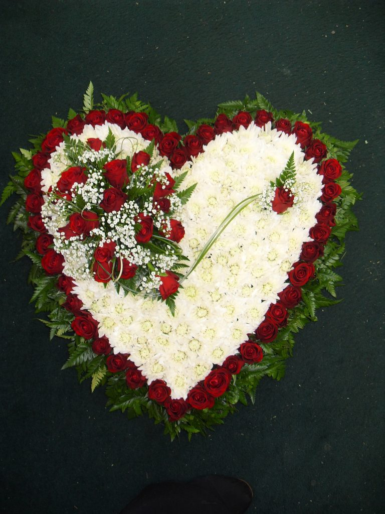 Funeral Tribute Solid Heart Janet Pattison The Florist Hull