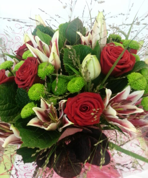 hand tied bouquet - Valentines Flowers Pictures